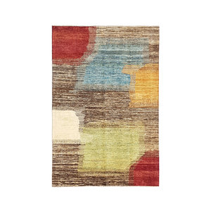 Hand knotted 9'5x6'5 Modern  Art Deco Wool Rug 292x200 cm  Abstract Carpet design18