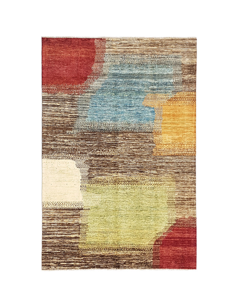 ZARGAR RUGS  Handgeknoopt Modern Art Deco tapijt 292x200 cm  oosters kleed vloerkleed