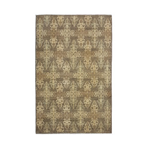Hand knotted 9'7x6' Modern  Art Deco Wool Rug 297x194 cm  Abstract Carpet