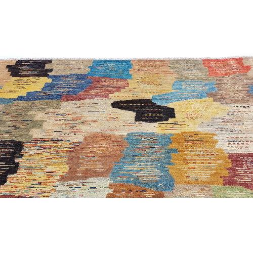 Handgeknüpft Modern Art Deco 297x200 cm Abstrakt Wolle Teppich