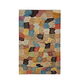 ZARGAR RUGS Hand knotted 9'7x6'5 Modern  Art Deco Wool Rug 297x200 cm  Abstract Carpet  multi