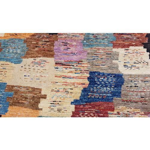 Handgeknoopt Modern Art Deco tapijt 294x201 cm  oosters kleed vloerkleed