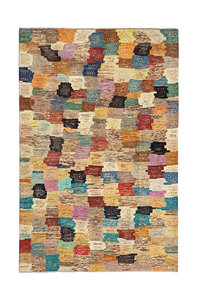 Hand knotted 9'6x6'5 Modern  Art Deco Wool Rug 294x201 cm  Abstract Carpet multi
