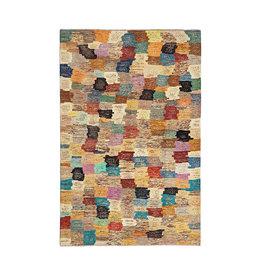 ZARGAR RUGS Hand knotted 9'6x6'5 Modern  Art Deco Wool Rug 294x201 cm  Abstract Carpet multi