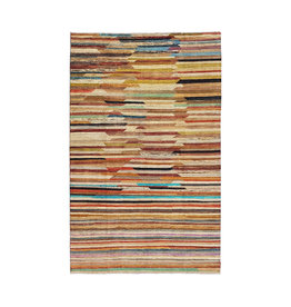 ZARGAR RUGS Hand knotted 10'x6' Modern  Art Deco Wool Rug 306x192 cm  Abstract Carpet   multi
