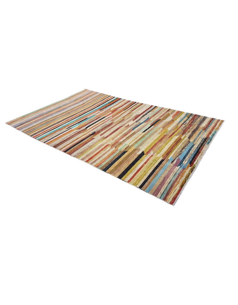 ZARGAR RUGS Handgeknüpft Modern Art Deco 306x192 cm Abstrakt Wolle Teppich