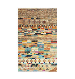 ZARGAR RUGS Hand knotted 9'64x6'33 Modern  Art Deco Wool Rug  294x193 cm   Abstract Carpet   multi