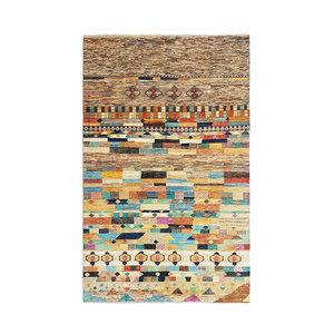Handgeknüpft Modern Art Deco 294x193 cm   Abstrakt Wolle Teppich multi