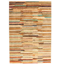 ZARGAR RUGS Hand knotted 9'90x6'39 Modern  Art Deco Wool Rug 302x195 cm   Abstract Carpet   multi