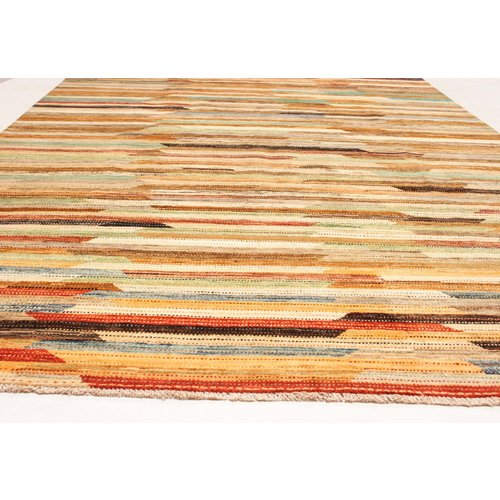 Hand knotted 9'90x6'39 Modern  Art Deco Wool Rug 302x195 cm   Abstract Carpet   multi