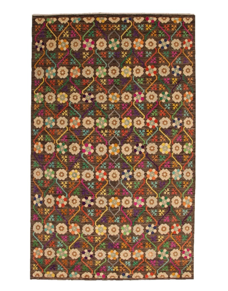 ZARGAR RUGS  Handgeknoopt Modern Art Deco tapijt 320x196 cm   oosters kleed vloerkleed  multi