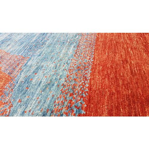 Handgeknüpft Modern Art Deco 293x198 cm   Abstrakt Wolle Teppich multi