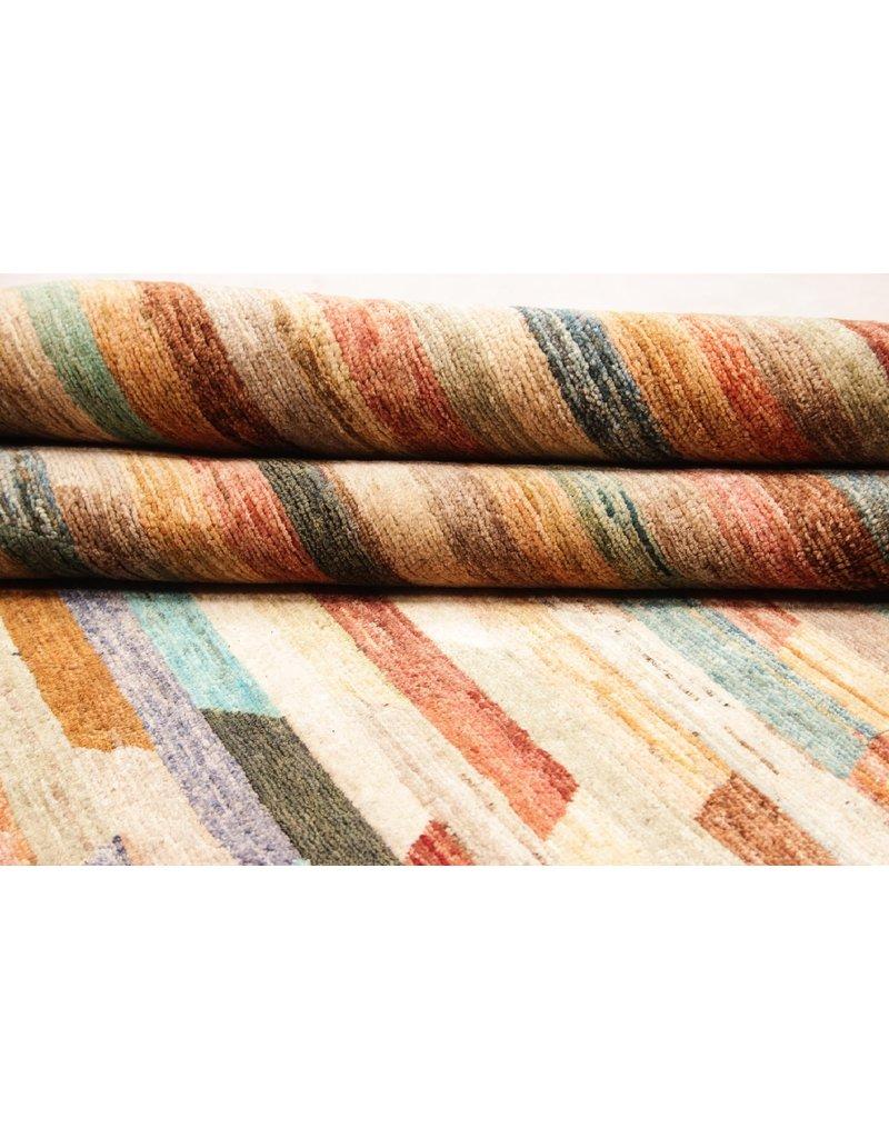 ZARGAR RUGS Hand knotted 9'64x6'56 Modern  Art Deco Wool Rug 294x200 cm  Abstract Carpet   multi