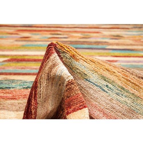 Handgeknüpft Modern Art Deco 294x200 cm  Abstrakt Wolle Teppich multi