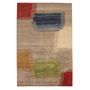 Hand knotted 9'64x6'43 Modern  Art Deco Wool Rug 294x196 cm  Abstract Carpet   multi