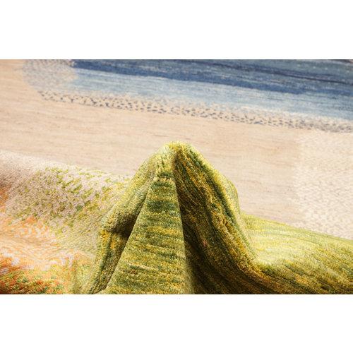 Handgeknoopt Modern Art Deco tapijt 294x196 cm  oosters kleed vloerkleed  multi