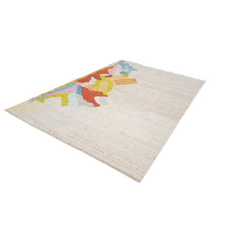 Handgeknoopt Modern Art Deco tapijt 295x200 cm  oosters kleed vloerkleed  multi