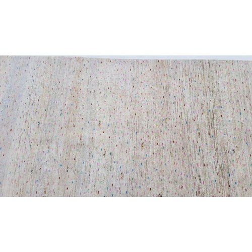 Handgeknüpft Modern Art Deco  295x200 cm Abstrakt Wolle Teppich multi
