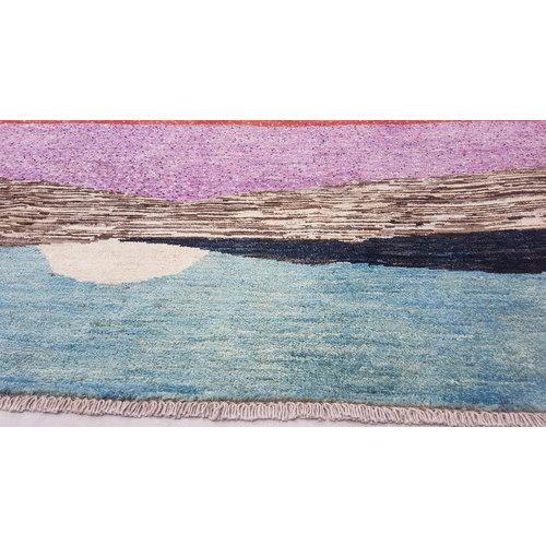 Handgeknoopt Modern Art Deco tapijt 293x200 cm  oosters kleed vloerkleed  multi