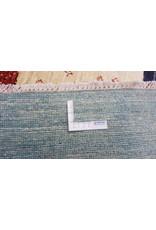 ZARGAR RUGS Handgeknüpft Modern Art Deco  293x200 cm  Abstrakt Wolle Teppich multi