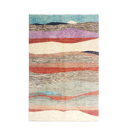 ZARGAR RUGS Hand knotted 9'61x6'56 Modern  Art Deco Wool Rug  293x200 cm  Abstract Carpet   multi