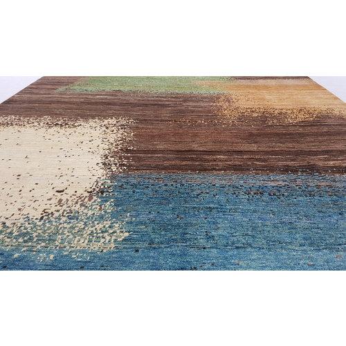 Handgeknüpft Modern Art Deco 295x196 cm Abstrakt Wolle Teppich multi