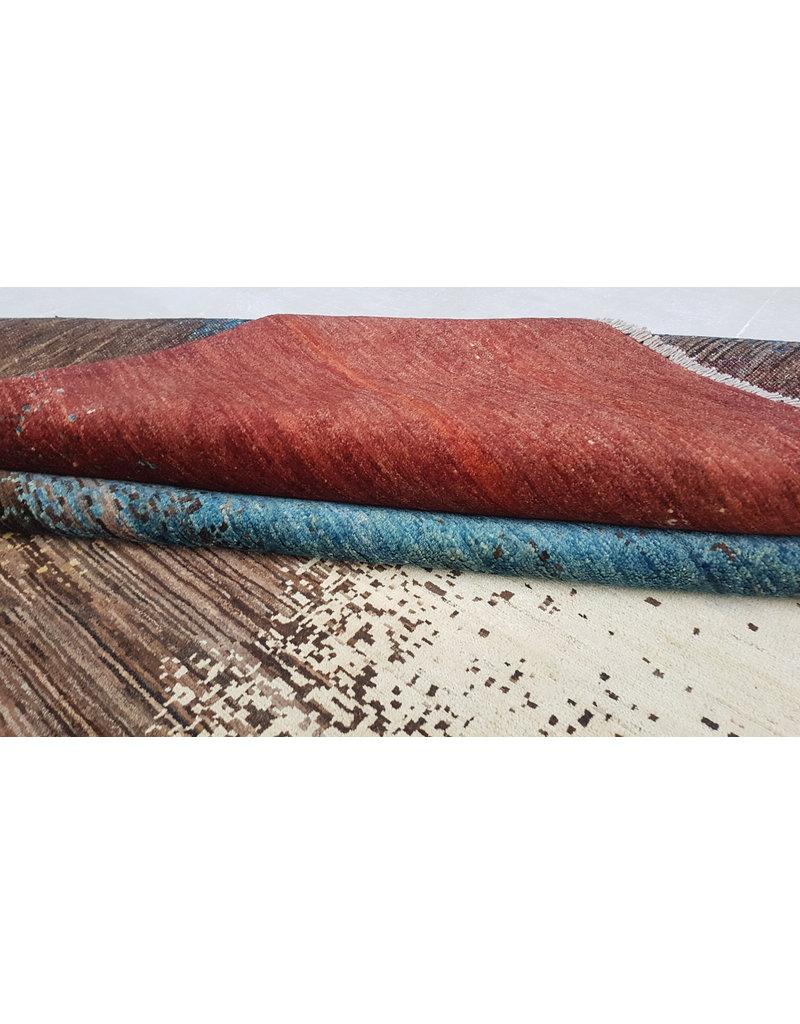 ZARGAR RUGS Hand knotted 9'67x6'43 Modern  Art Deco Wool Rug 295x196 cm   Abstract Carpet   multi