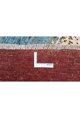 ZARGAR RUGS Handgeknüpft Modern Art Deco 295x196 cm Abstrakt Wolle Teppich multi