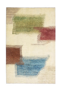 Hand knotted 9'71x6'46 Modern  Art Deco Wool Rug  296x197 cm  Abstract Carpet   multi