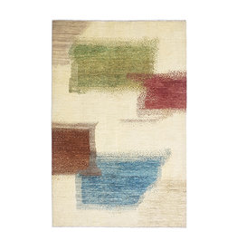 ZARGAR RUGS Hand knotted 9'71x6'46 Modern  Art Deco Wool Rug  296x197 cm  Abstract Carpet   multi