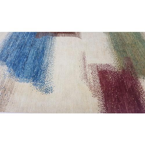 Handgeknüpft Modern Art Deco  296x197 cm Abstrakt Wolle Teppich multi