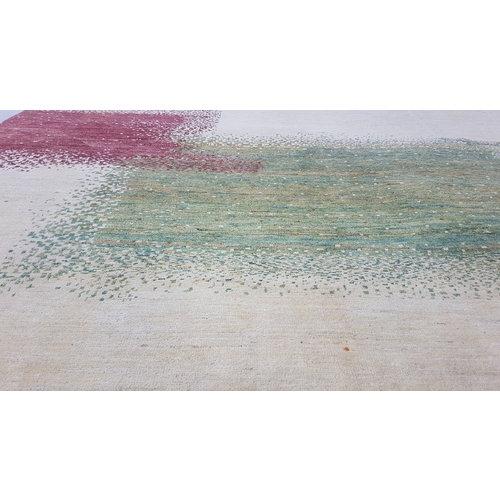 Handgeknoopt Modern Art Deco tapijt 296x197 cm  oosters kleed vloerkleed  multi