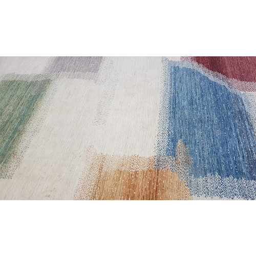 Hand knotted 9'77x6'56 Modern  Art Deco Wool Rug 298x200cm Abstract Carpet   multi