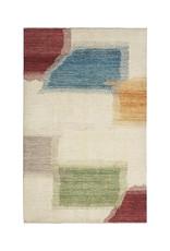 ZARGAR RUGS Handgeknüpft Modern Art Deco 298x200cm Abstrakt Wolle Teppich multi