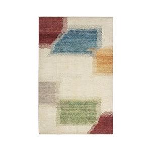 Handgeknüpft Modern Art Deco 298x200cm Abstrakt Wolle Teppich multi