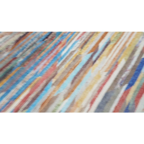 Hand knotted 9'61x6'43 Modern  Art Deco Wool Rug  293x196 cm Abstract Carpet   multi