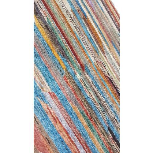 Handgeknüpft Modern Art Deco 293x196 cm Abstrakt Wolle Teppich multi