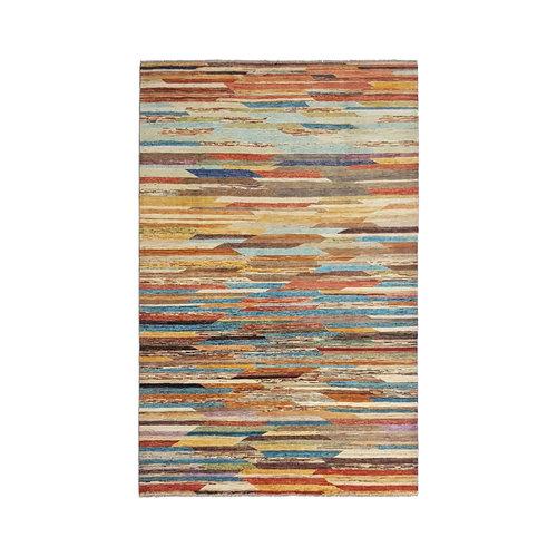 Handgeknoopt Modern Art Deco tapijt 293x196 cm  oosters kleed vloerkleed  multi