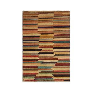 Handgeknoopt Modern Art Deco tapijt 291x198 cm  oosters kleed vloerkleed  multi