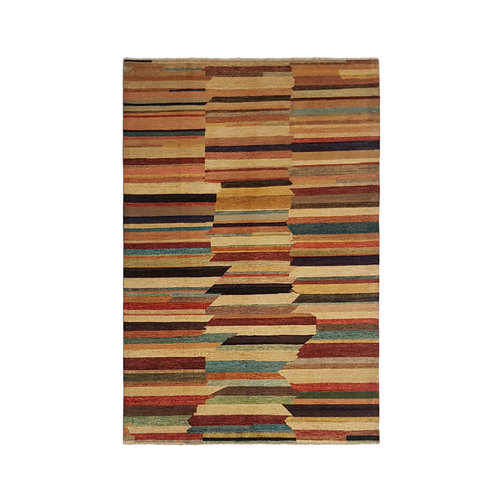 Hand knotted 9'61x6'49 Modern  Art Deco Wool Rug  291x198 cm Abstract Carpet   multi