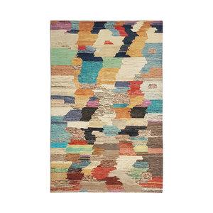 Handgeknüpft Modern Art Deco  297x200cm  Abstrakt Wolle Teppich multi