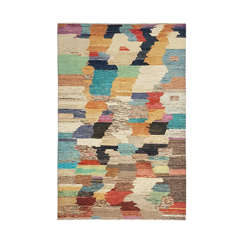 Hand knotted 9'74x6'56 Modern  Art Deco Wool Rug  297x200cm  Abstract Carpet   multi