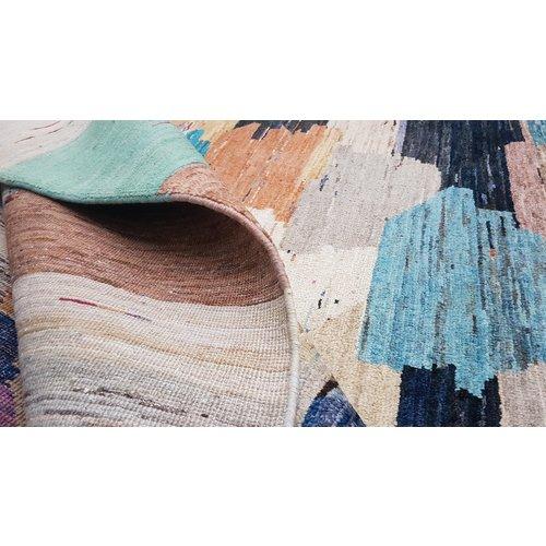 Handgeknoopt Modern Art Deco tapijt 297x200cm  oosters kleed vloerkleed  multi