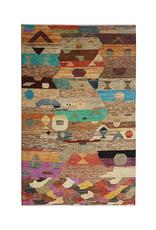 ZARGAR RUGS Handgeknüpft Modern Art Deco  297x197 cm  Abstrakt Wolle Teppich multi