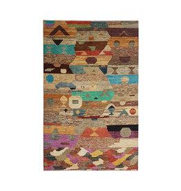 ZARGAR RUGS Hand knotted 9'74x6'46 Modern  Art Deco Wool Rug  297x197 cm  Abstract Carpet   multi