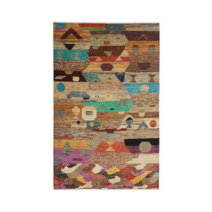 Hand knotted 9'74x6'46 Modern  Art Deco Wool Rug  297x197 cm  Abstract Carpet   multi