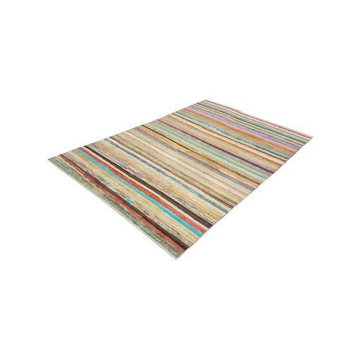 Handgeknoopt Modern Art Deco tapijt 295x196cm  oosters kleed vloerkleed  multi