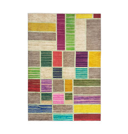 ZARGAR RUGS Hand knotted 9'71x6'66 Modern  Art Deco Wool Rug 296x203cm Abstract Carpet   multi