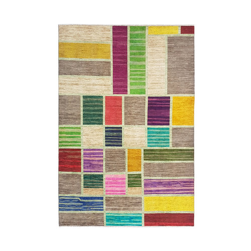 Hand knotted 9'71x6'66 Modern  Art Deco Wool Rug 296x203cm Abstract Carpet   multi
