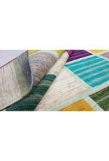 ZARGAR RUGS Handgeknüpft Modern Art Deco 296x203cm Abstrakt Wolle Teppich multi